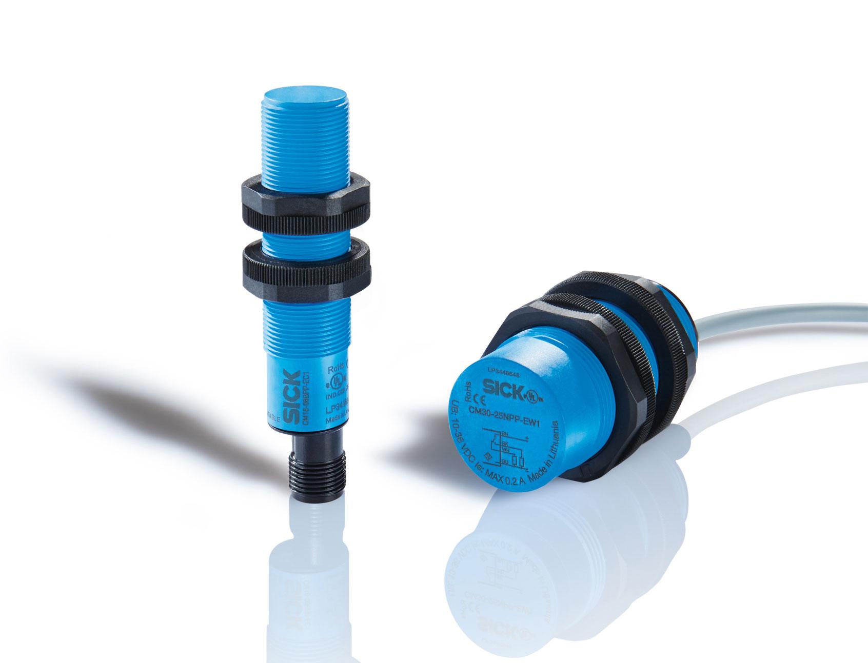 Sensori capacitivi CM18 e CM30 di SICK - rilevamento affidabile grazie ad un'elevata compatibilità elettromagnetica
