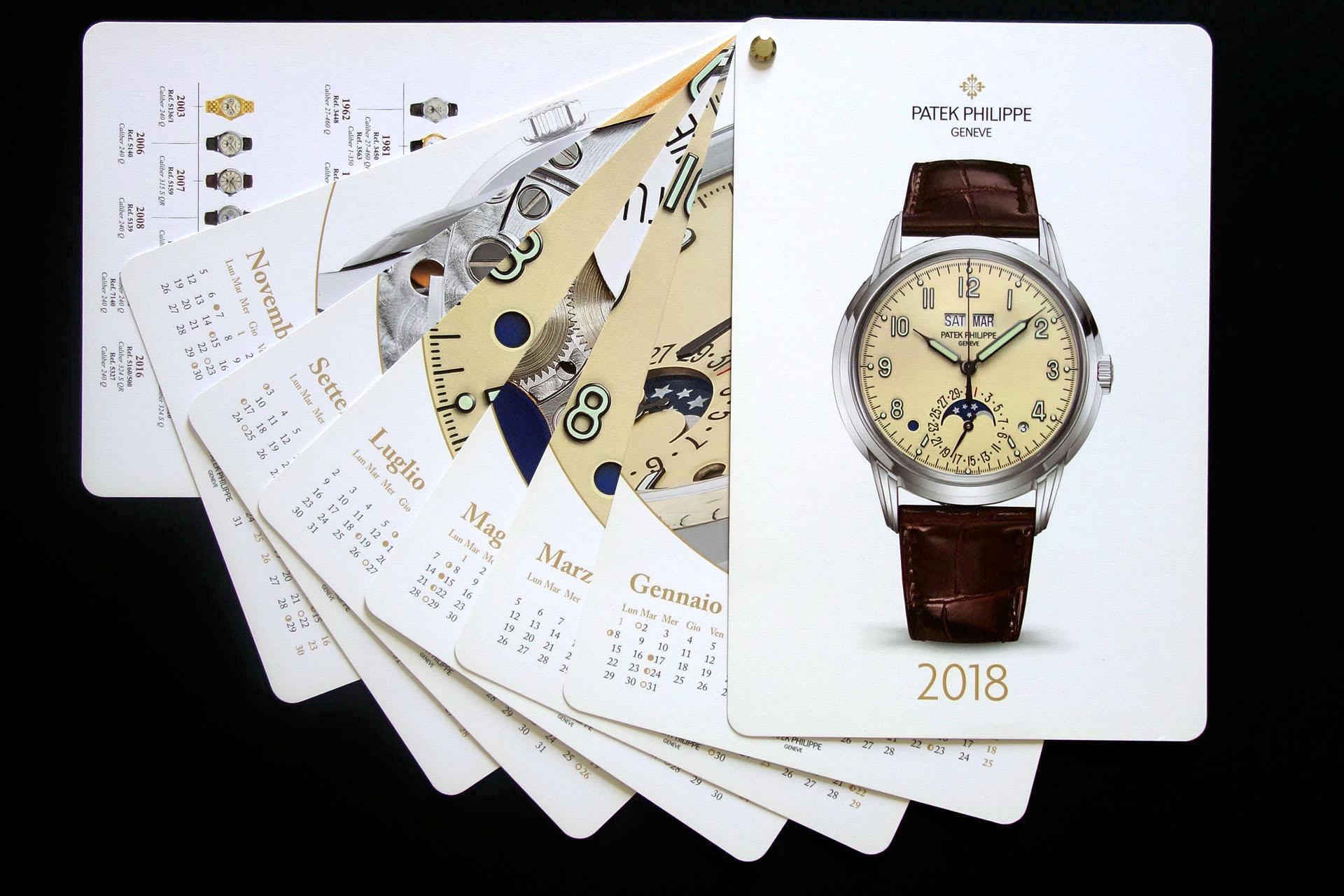 Calendario Domino Swan Group Patek Philippe